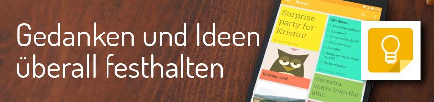 Google Keep: Newsletter-Ideen jederzeit festhalten