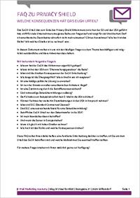FAQ zu Privacy Shield als Download